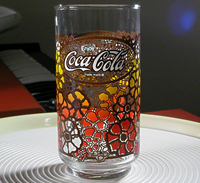 Coca Cola Novelty Glass Flower